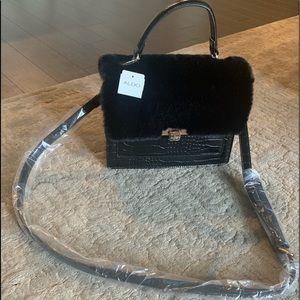 NWT Aldo Faux Fur + Croc embossed bag